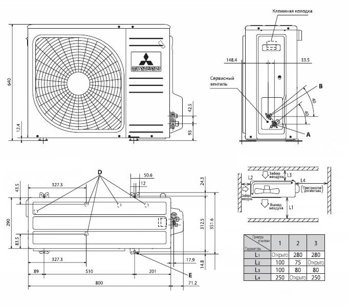 Кондиционер установка габариты установка кондиционера в авео